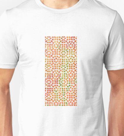 Tie Dye Mosaic Orange Unisex T-Shirt