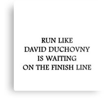 Run like David Duchovny Metal Print