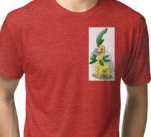 Pokémon Bayleef watercolor illustration Tri-blend T-Shirt