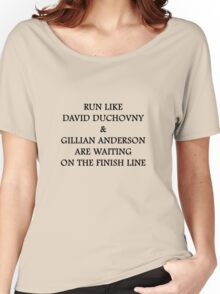 Run Like Gillian Anderson and David Duchovny Women's Relaxed Fit T-Shirt