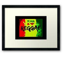 I love reggae Framed Print
