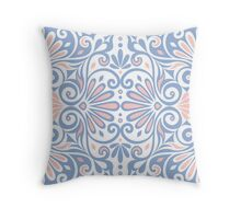 Greek floral ornament Throw Pillow