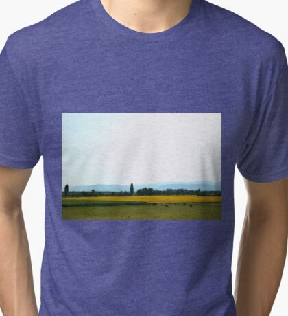 French Countryside Tri-blend T-Shirt