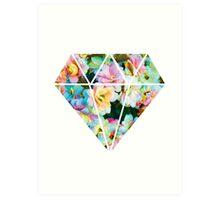 Floral Diamond Art Print