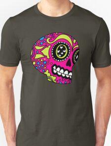 Happy Pink Sugar Skull Unisex T-Shirt