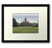Mansion at Werribee Framed Print