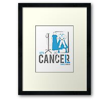 Let's Cancel Prostate Cancer Framed Print