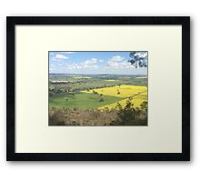 Australia Country side Canola Fields Framed Print