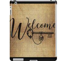 welcome ~ rustic vintage wall art iPad Case/Skin
