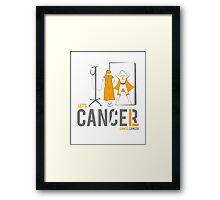 Let's Cancel Childhood Cancer Framed Print