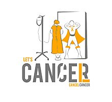 Let's Cancel Childhood Cancer Photographic Print