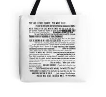 Carol Peletier Quotes The Walking Dead TWD Typography Distressed Vintage Burnout Graphic  Tote Bag