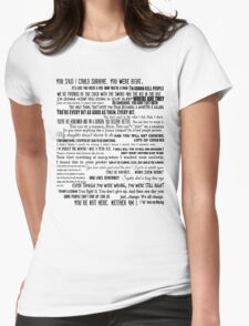 Carol Peletier Quotes The Walking Dead TWD Typography Distressed Vintage Burnout Graphic  Womens Fitted T-Shirt