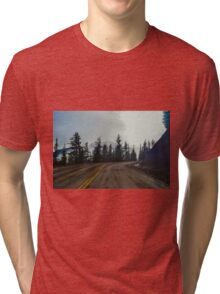 Hurricane Ridge Road, Olympic National Park, Washington Tri-blend T-Shirt