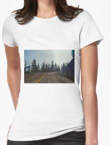 Hurricane Ridge Road, Olympic National Park, Washington Womens Fitted T-Shirt