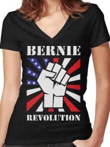 Bernie Sanders Revolution Women's Fitted V-Neck T-Shirt