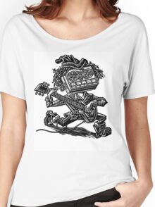 Eight Track Recorder Guitar Player Women's Relaxed Fit T-Shirt
