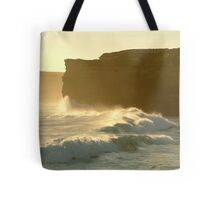 Joe Mortelliti Gallery - Sound and light show at Sherbrooke Beach, near Port Campbell and the Twelve Apostles, Great Ocean Road, Victoria, Australia. Tote Bag