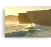 Joe Mortelliti Gallery - Sound and light show at Sherbrooke Beach, near Port Campbell and the Twelve Apostles, Great Ocean Road, Victoria, Australia. Metal Print