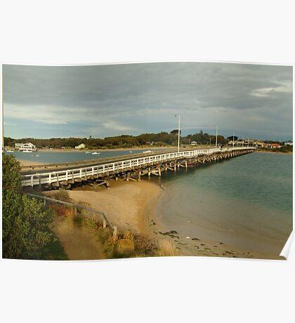 Joe Mortelliti Gallery - Barwon Heads Bridge, linking Barwon Heads and Ocean Grove, Bellarine Peninsula, Victoria,  Poster