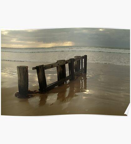Joe Mortelliti Gallery - Pearl morning, RAAFS beach, Bellarine Peninsula, Victoria, Australia. Poster