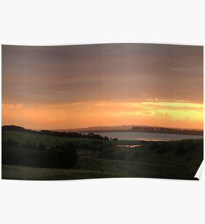 Joe Mortelliti Gallery - Sunset, Lake Connewarre, Bellarine Peninsula, Victoria, Australia. Poster