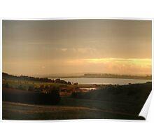 Joe Mortelliti Gallery - Last rays of evening sunlight, Lake Connewarre, Bellarine Peninsula, Victoria, Australia.  Poster