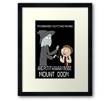 Rick and Morty - Lord of the rings Framed Print