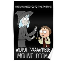Rick and Morty - Lord of the rings Poster