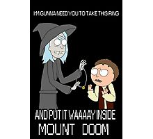 Rick and Morty - Lord of the rings Photographic Print