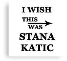 I wish this was Stana Katic Canvas Print