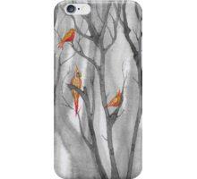 orange birds iPhone Case/Skin