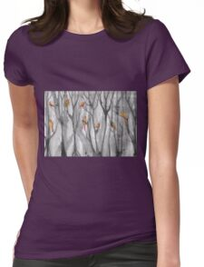 orange birds Womens Fitted T-Shirt