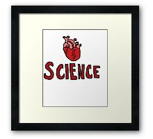 Love Science- Anatomically  Correct Heart Framed Print
