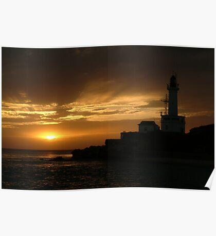 Joe Mortelliti Gallery - Sun's rays, Point Lonsdale, Bellarine Peninsula, Victoria, Australia. Poster