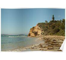 Joe Mortelliti Gallery - Black Lighthouse, Queenscliff, Bellarine Peninsula, Victoria, Australia. Poster