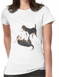 Beagle Play Womens Fitted T-Shirt