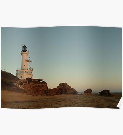 Joe Mortelliti Gallery - Dusk, Point Lonsdale lighthouse, Bellarine Peninsula, Victoria, Australia. Poster