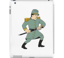Confederate Army Soldier Drawing Sword Cartoon iPad Case/Skin