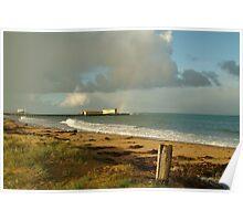 Joe Mortelliti Gallery - Queenscliff beach, Bellarine Peninsula, Victoria, Australia. Poster