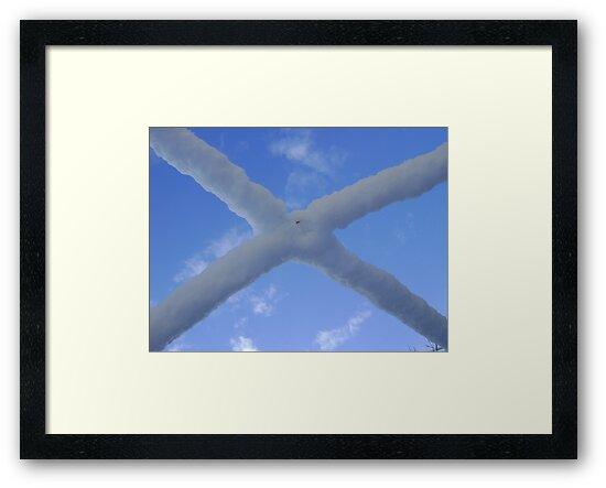 Saltire (snow and Scottish sky) by armadillozenith