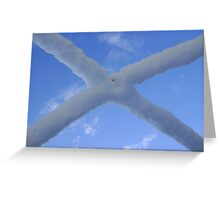 Saltire (snow and Scottish sky) Greeting Card