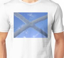 Saltire (snow and Scottish sky) Unisex T-Shirt