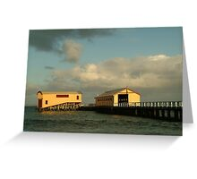 Joe Mortelliti Gallery - Queenscliff pier, Bellarine Peninsula, Victoria, Australia. Greeting Card