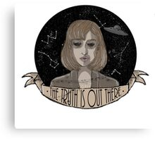 "Scully ""The Truth Is Out There"" Canvas Print"