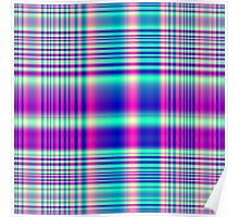 Psychedelic Plaid Poster