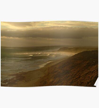 Joe Mortelliti Gallery - Beautiful picture of Thirteenth Beach, near Barwon Heads, Bellarine Peninsula, Victoria, Australia.  Poster