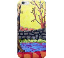 423 - YELLOW CAT - DAVE EDWARDS - COLOURED PENCILS - 2016 iPhone Case/Skin