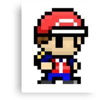 pixel pokemon trainer  Canvas Print