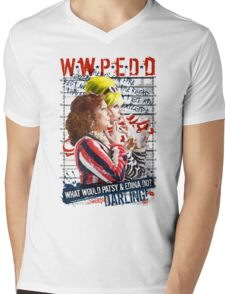 Absolutely Fabulous. AbFab. What Would Patsy and Edina Do, Darling? WWPEDD.  Mens V-Neck T-Shirt